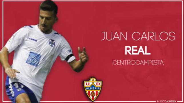 Juan Carlos Real, nuevo jugador del Almería.