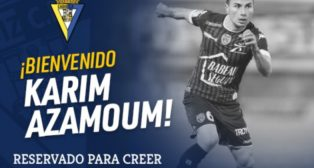 Nuevo fichaje del Cádiz CF Karim Azamoum. Vía Cádiz CF