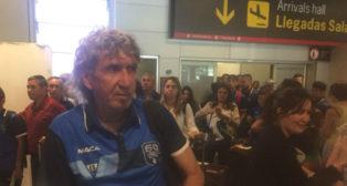 Mágico, a su llegada a Madrid.