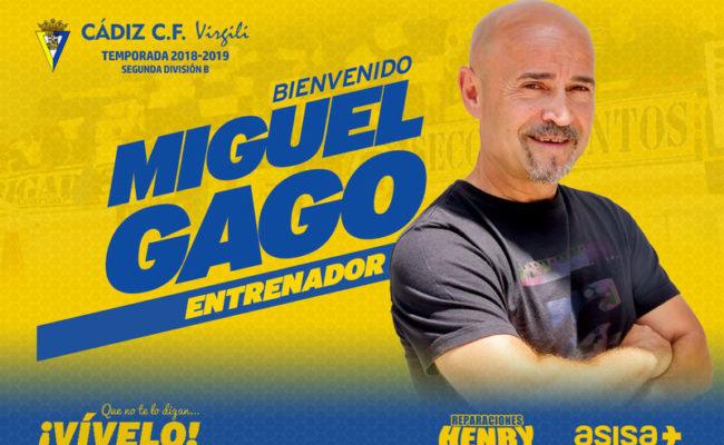 Miguel Gago, nuevo entrenador del Cádiz CF Virgili