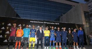 La fachada del estadio Carranza acogió la presentación de las nuevas camisetas.