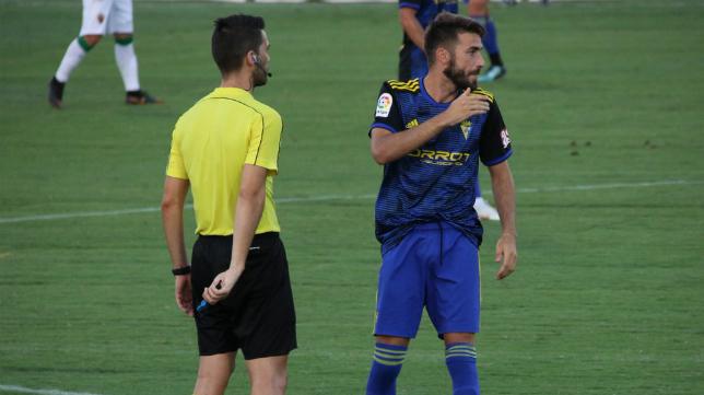 José Mari regresó a los terrenos de juego. Foto: Cádiz CF.