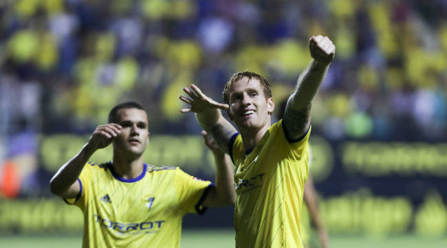 Álex Fernández fue uno de los jugadores más destacados del primer partido Cádiz CF