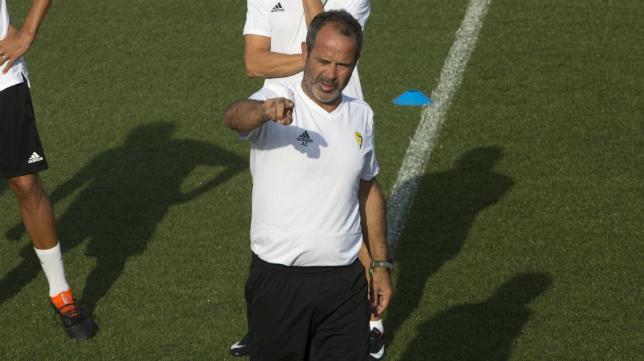 Álvaro Cervera, durante un entrenamiento en esta pretemporada.