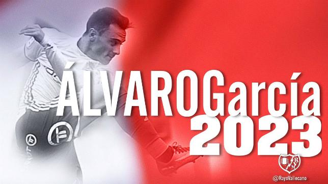 Álvaro García, nuevo jugador del Rayo Vallecano. Foto: Rayo Vallecano.