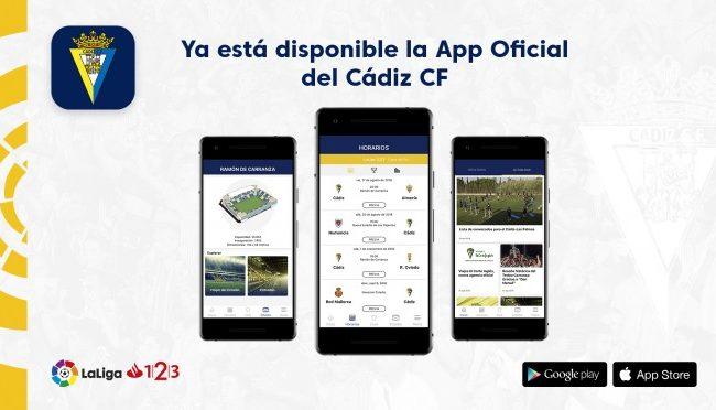 La nueva APP del Cádiz CF está disponible para Apple y Android (foto: Cádiz)