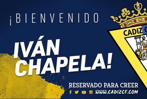 Iván Chapela será jugador del Cádiz B