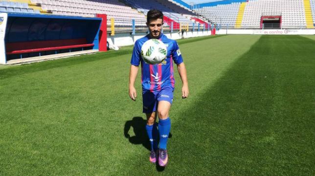 Jairo Izquierdo, durante su etapa en el Extremadura.