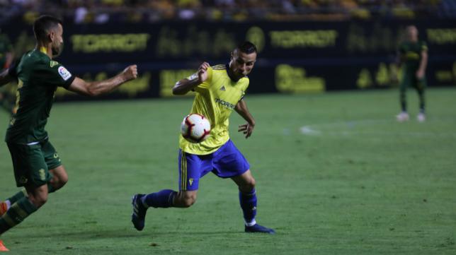 El nuevo jugador, Karim, en el Trofeo Carranza