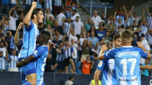 El Málaga ganó al Alcorcón en La Rosaleda (1-0). Foto: Sur.