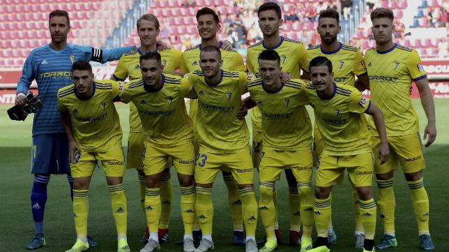 Once del Cádiz CF en Soria.