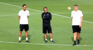 Álvaro Cervera sigue trabajando la forma de jugar del equipo.