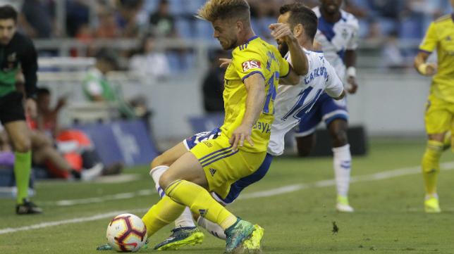 El delantero Mario Barco pasó desapercibido por el Heliodoro.