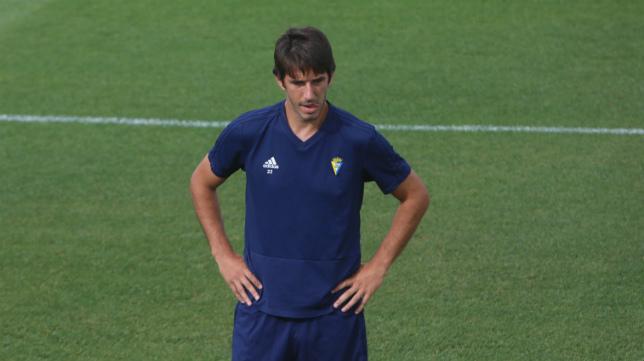 Dejan Lekic, en el entrenamiento del Cádiz CF.