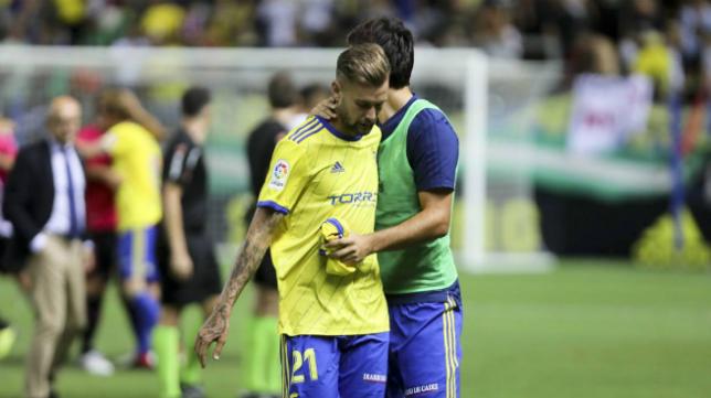 Carrillo, delantero del Cádiz CF, no estará ante el Granada.