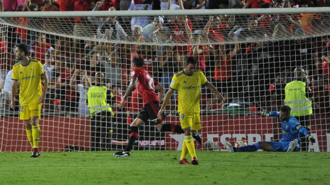 Cifuentes en el gol del Mallorca