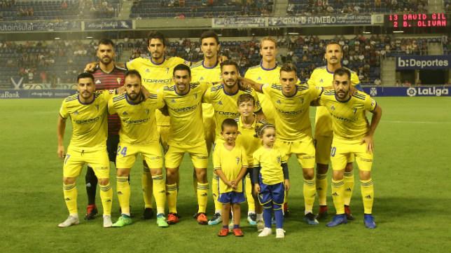 El once del Cádiz en Tenerife
