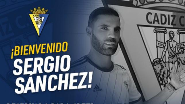 Sergio Sánchez ya es cadista. Foto: Cádiz CF.