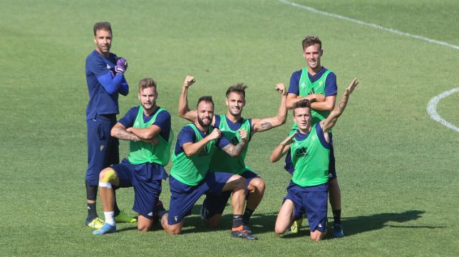 El buen ambiente ha reinado esta semana en los entrenamientos del Cádiz CF.
