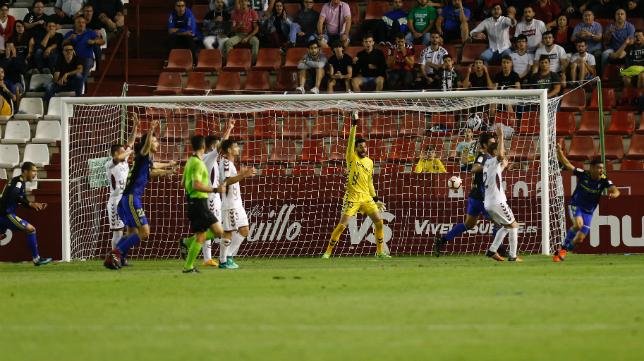 Dani Romera marcó el gol del empate en el minuto 92 en Albacete.