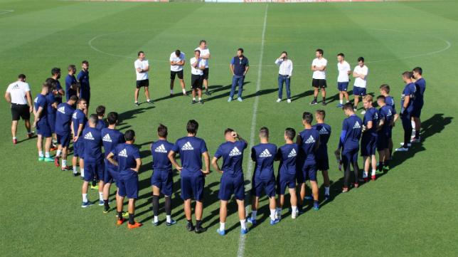 Juan Carlos Cordero se despide de la plantilla del Cádiz CF.