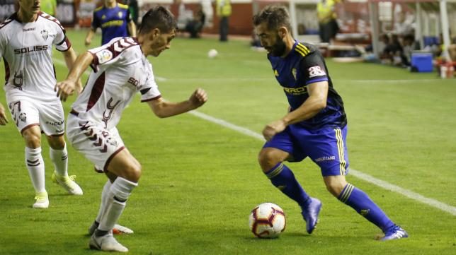 Perea en el partido ante el Albacete