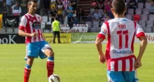 Pita, en un partido con el Lugo.