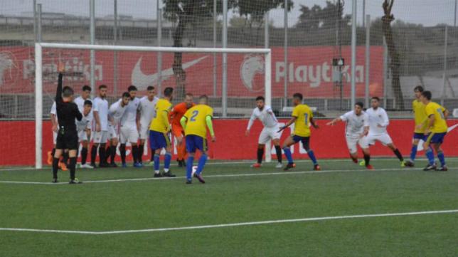 El Cádiz CF B no pudo puntuar ante el Sevilla C. Foto: Cádiz CF.