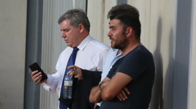 Manuel Vizcaíno en un partido del Cádiz B la pasada temporada