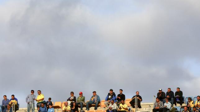 Aficionados de preferencia en un día de partido.