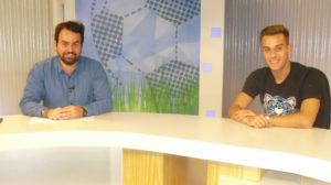 Brian fue el invitado al programa La Futbolería que dirige Rubén López.