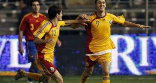 Rumanía ganó a España en el Estadio Ramón de Carranza. Foto: EFE.