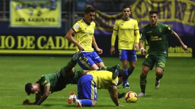 Garrido completó un encuentro sobresaliente ante la UD Las Palmas.