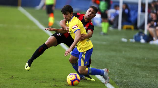 Jairo, en el partido ante el Reus.