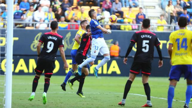 Édgar Badía fue el guardameta del Reus en el Estadio Ramón de Carranza.