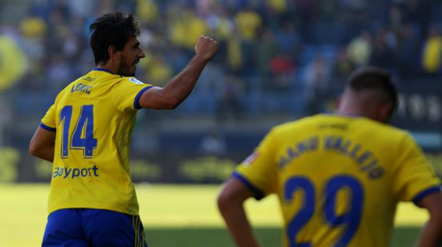 Lekic celebra un gol en Carranza.