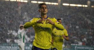 Marcos Mauro celebra su gol en Córdoba