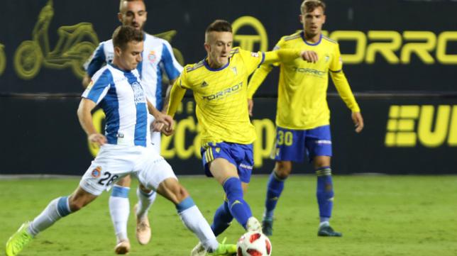 Salvi tuvo momentos brillantes ante el Espanyol.