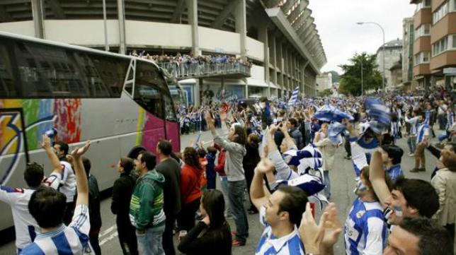 La afición del Deportivo viajará a Cádiz este fin de semana.