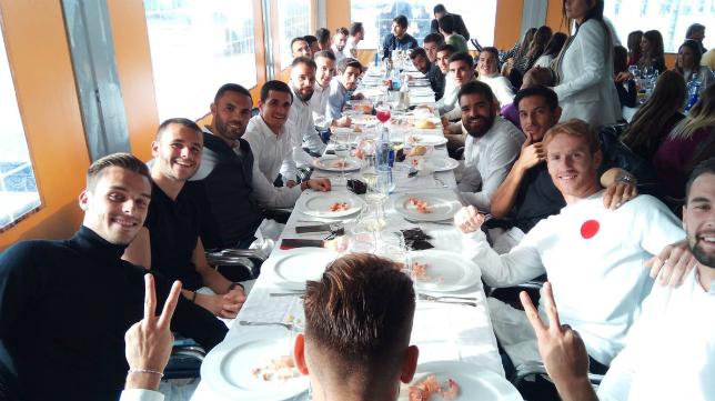 El Cádiz CF celebró su almuerzo de Navidad. Foto: Cádiz CF.
