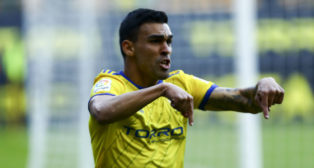 Dani Romera celebra el gol ante el Rayo Majadahonda.