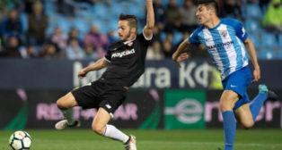 Diego González con el Málaga