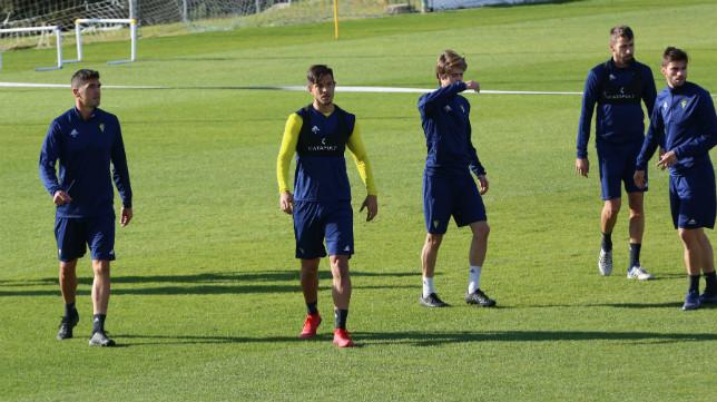 Garrido y Marcos Mauro, en un entrenamiento.