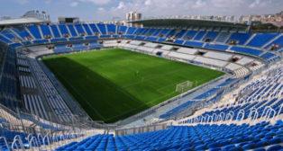 El estadio del Málaga, La Rosaleda.