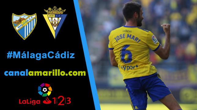 El Cádiz CF busca dar la sorpresa en Málaga