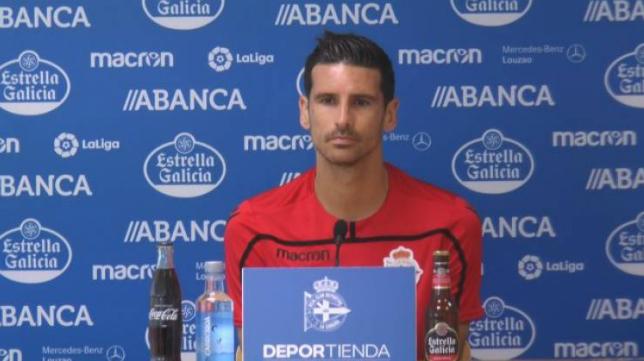 Vicente Gómez, jugador del Deportivo.