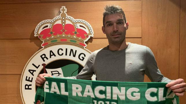 David Barral recala en el Racing de Santander. Foto: Twitter David Barral.