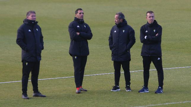 Javier Manzano, Roberto Perera, Álvaro Cervera y el recién llegado Miguel Ángel Campos.