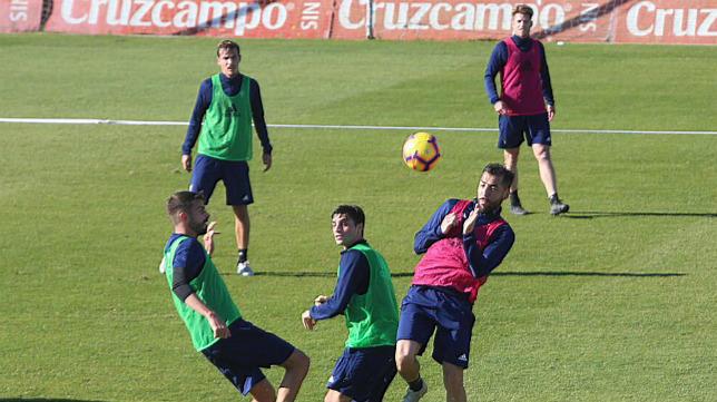 Imagen del primer entrenamiento del año celebrado en El Rosal.