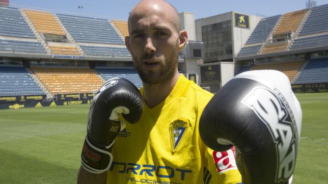 Carlos Coello, en el Estadio Ramón de Carranza.